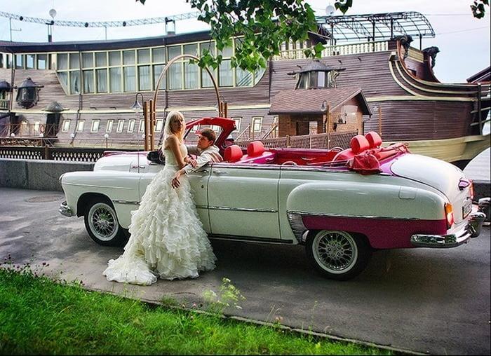 ретро кабриолет зим газ на свадьбу
