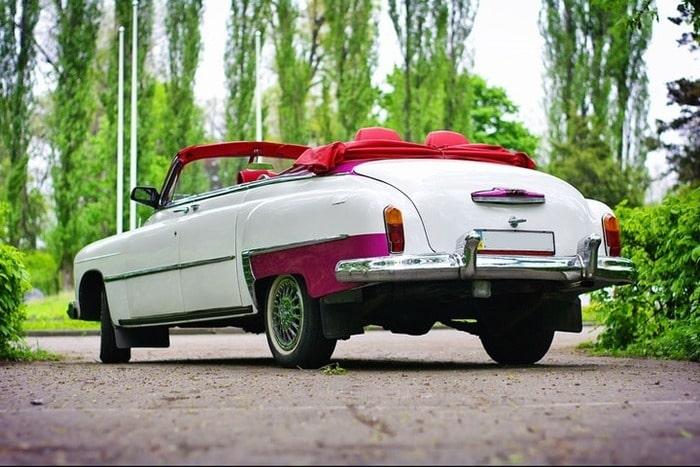 зим ретро кабриолет на свадьбу