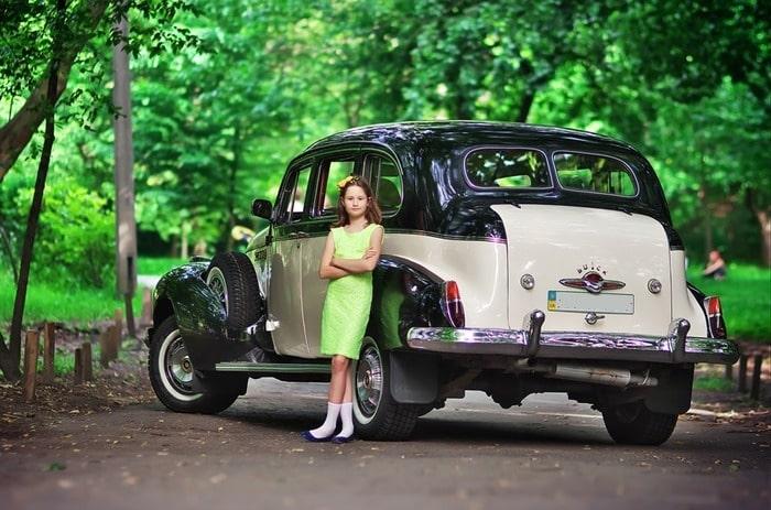 ретро авто бьюик на свадьбу
