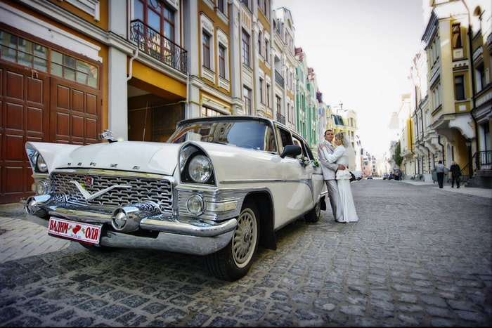 Чайка белого цвета аренда на свадьбу