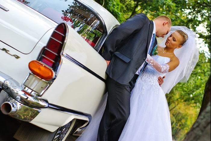 ретро авто чайка газ 13 на свадьбу