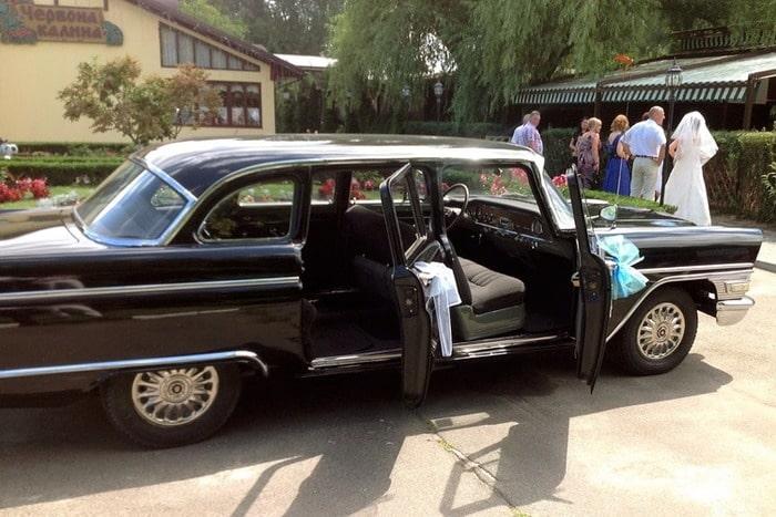 черная чайка газ 13 на свадьбу