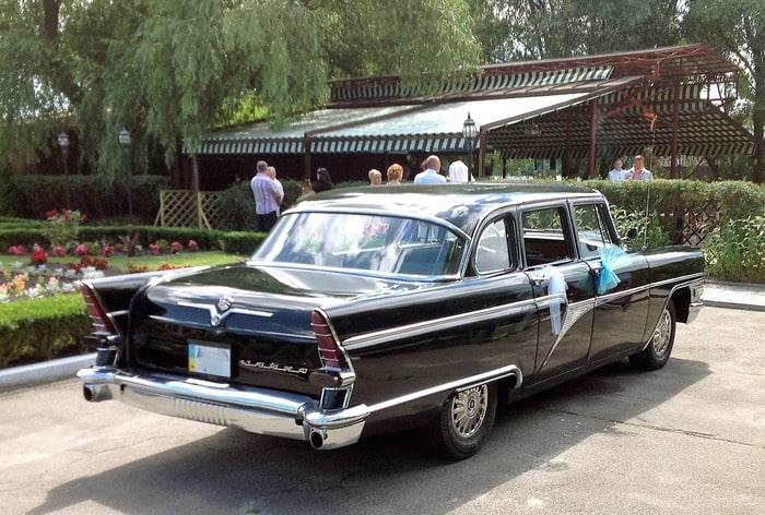 ретро авто на свадьбу черная чайка газ 13