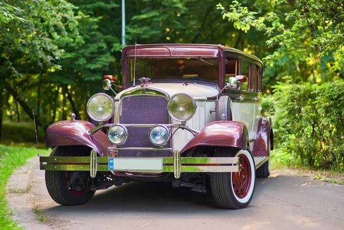 ретро лимузин desoto на свадьбу