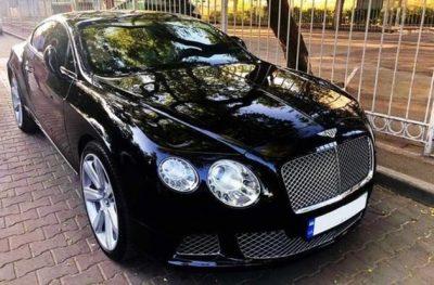 VIP авто черный бентли GT
