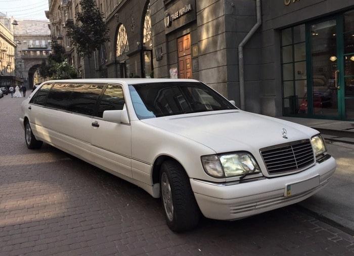 Лимузин Mercedes w140 S класс на свадьбу, выпускной, день рождения не дорого
