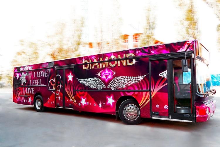 пати бас Diamond аренда на свадьбу, выпускной, день рождения